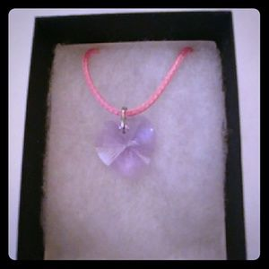 Jewelry - Blush Violet Crystal Heart Necklace